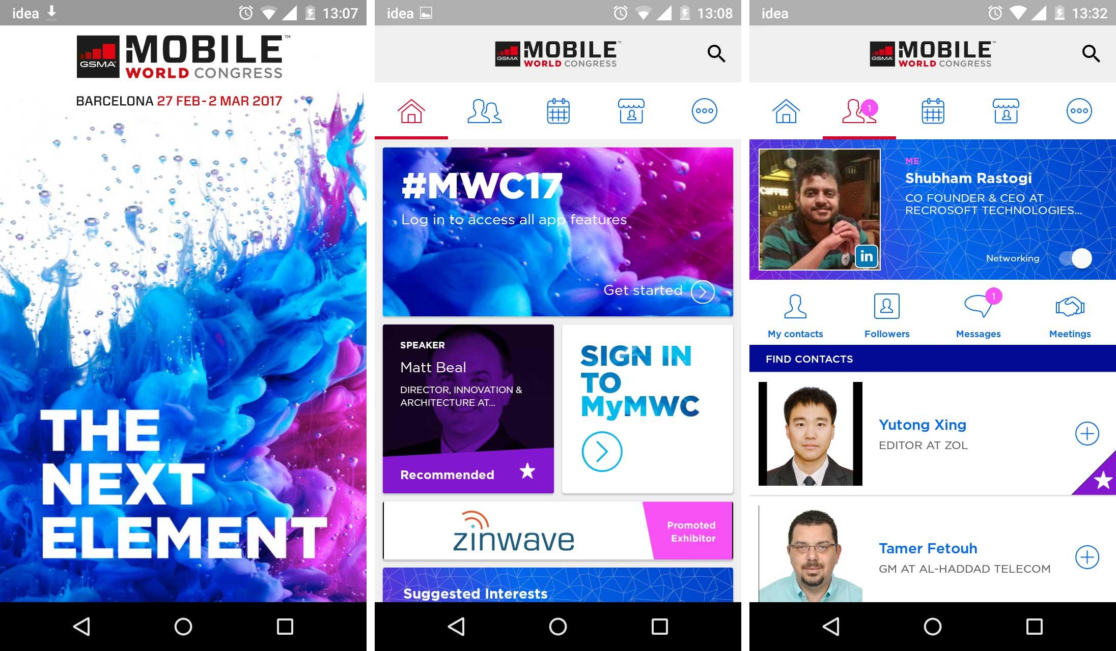 MWC event app