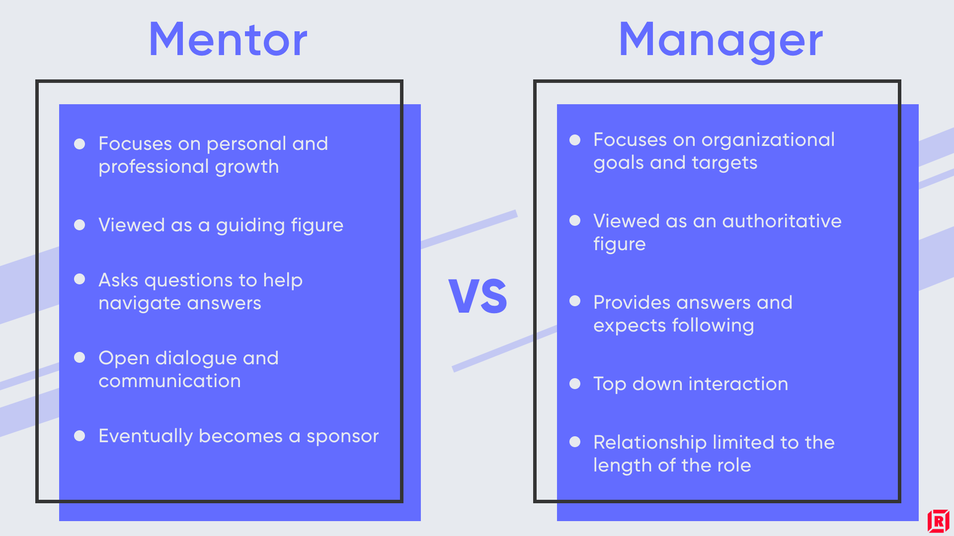 mentors over managers